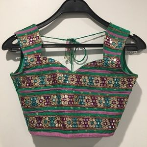 Vintage Indian-styled Crop Top / Blouse